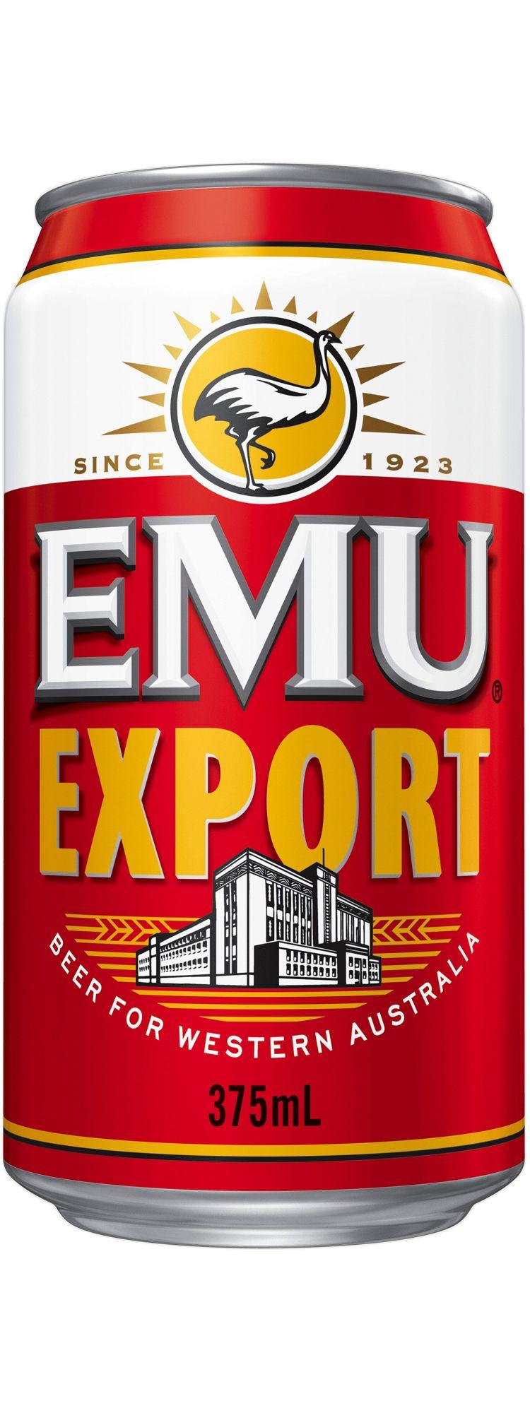 Emu Export Cans 30 Block Canning Australian Beer Beer Brands