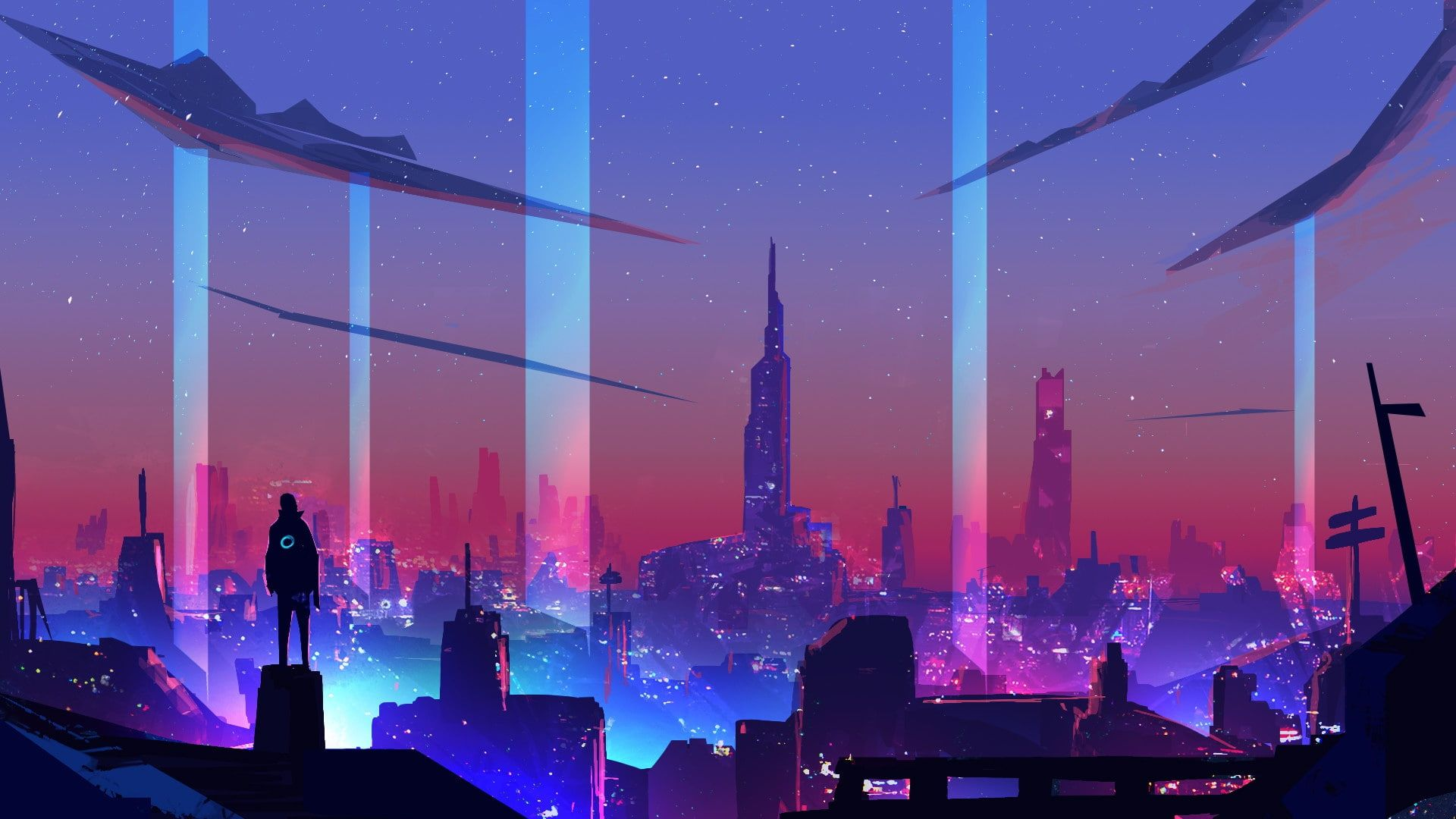 Synth Retrowave Neon Cyberpunk Digital Art 1080p Wallpaper Hdwallpaper Desktop Neon Wallpaper City Wallpaper Cyberpunk Art