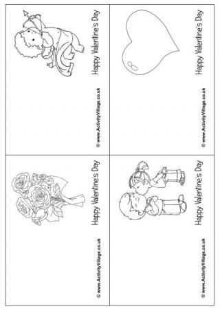 Valentine S Day Colouring Cards Valentine Coloring Valentines Cards Printable Valentines Coloring Pages