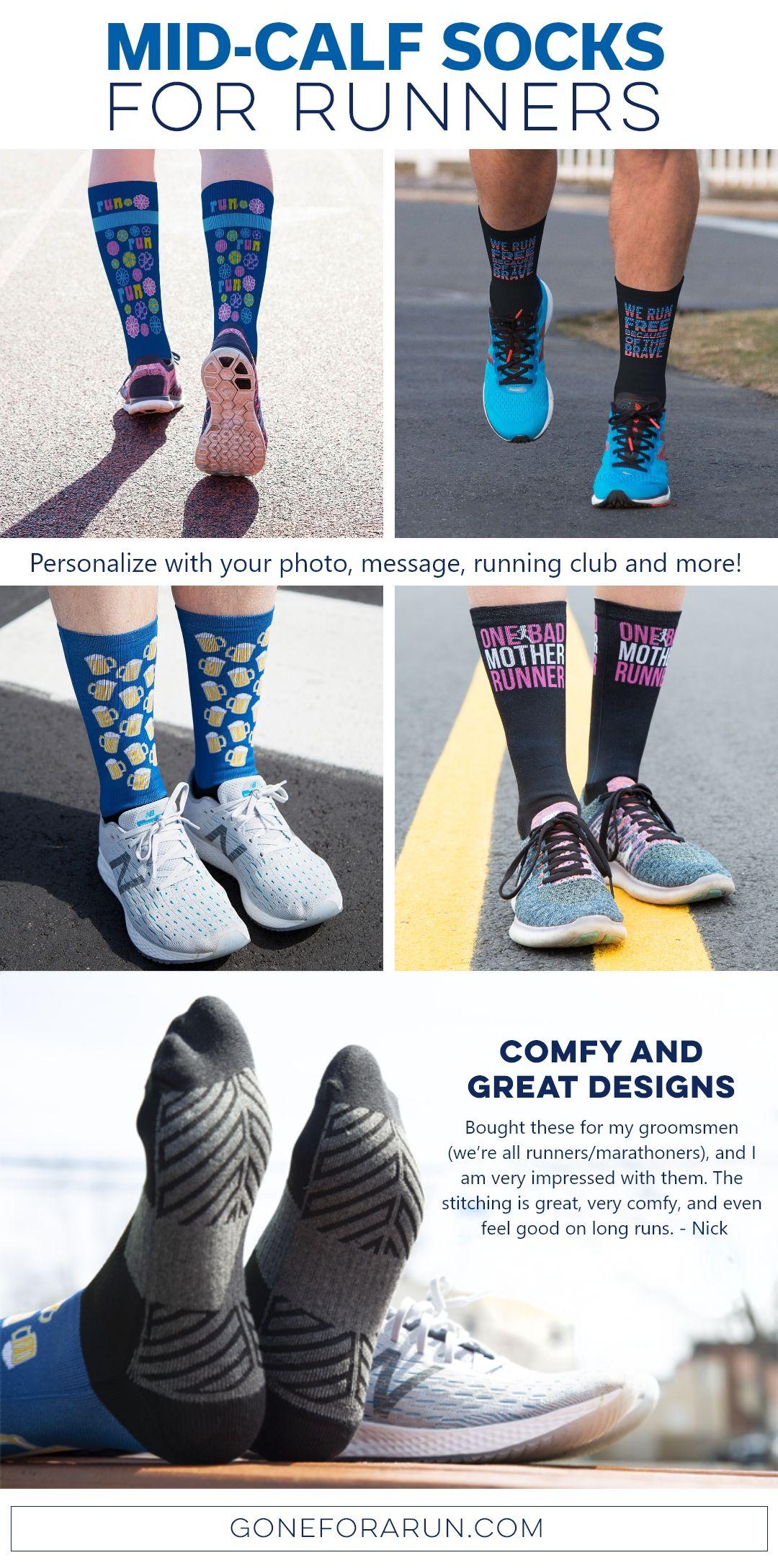 Running socks, Calf socks