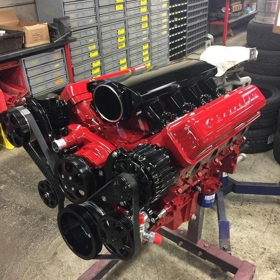 LS3 Built by Street Machinery in Ohio. Featuring Billet Specialties Tru  Trac and Valve Cover Conversion kit
