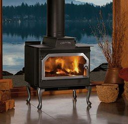 Lennox Country 210 Freestanding Wood Burning Stove With Nickel