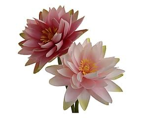 Composizione artificiale di Lotus Sacro assortito - h 75 cm