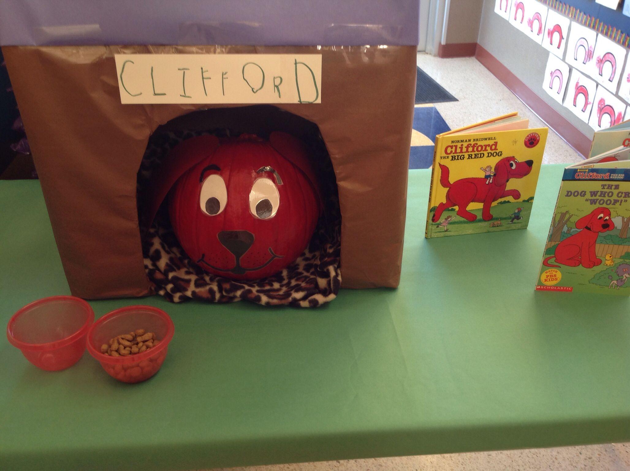 Clifford the Big Red Dog   Pumpkin decorating ideas   Pinterest