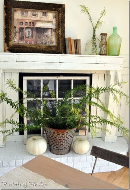 Using a window to fill an old fireplace opening what a - Ideas to cover fireplace opening ...