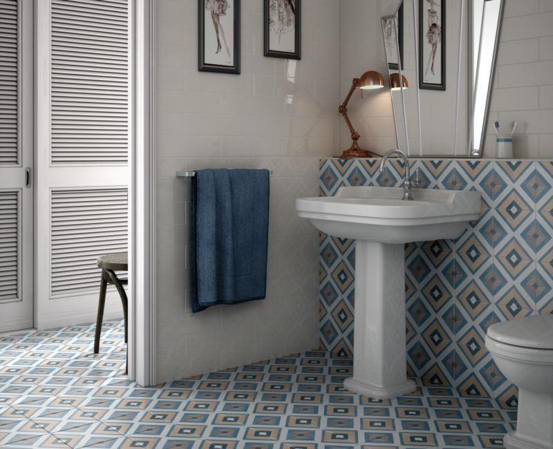 Casa1 Feinsteinzeugfliesen für den Boden, Serie Caprice Deco - boden f r badezimmer