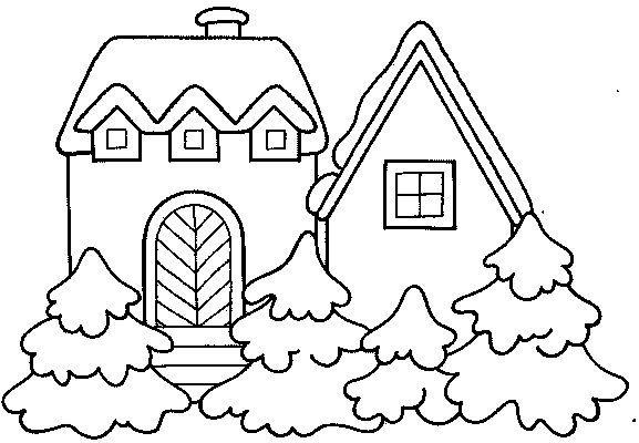 Dibujos para Colorear Casas 2 | casitas | Pinterest | Colorear ...