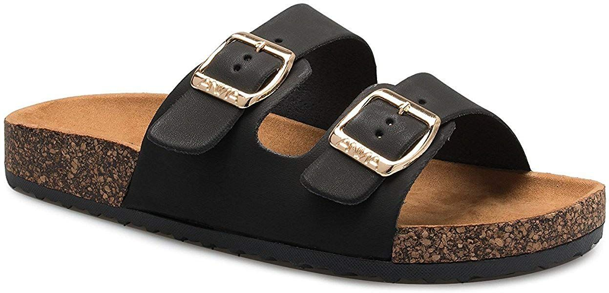 632b8a1d097 Women s Flat Casual Soft Cork Slides Sandal Double Adjustable Buckle Strap  Slip on Summer Shoes     Hope that you do like the photo.
