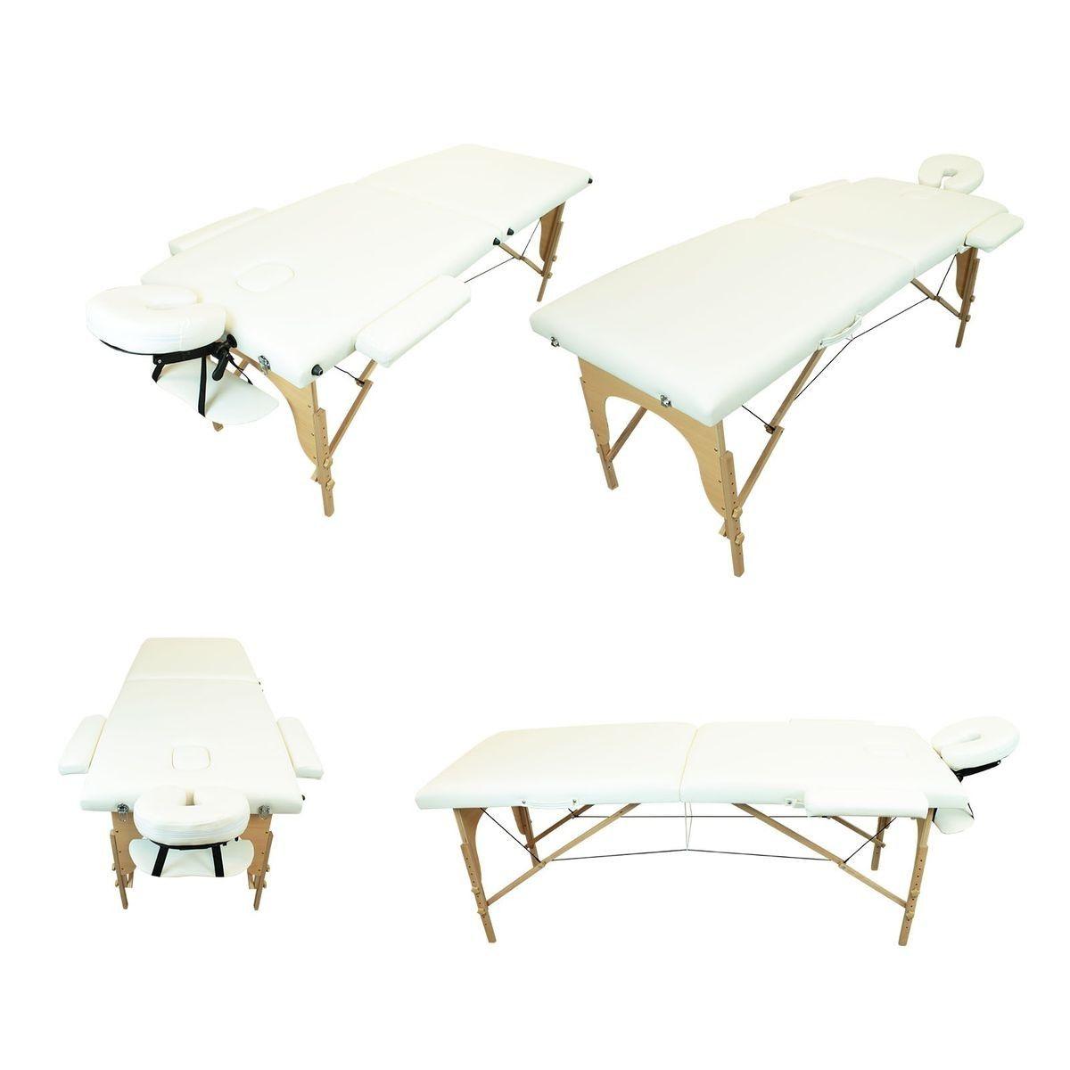 Table De Massage Pliante 2 Zones En Bois Avec Panneau Reiki Accessoires Et Housse De Transport Table De Massage Massage A Domicile Et Housses