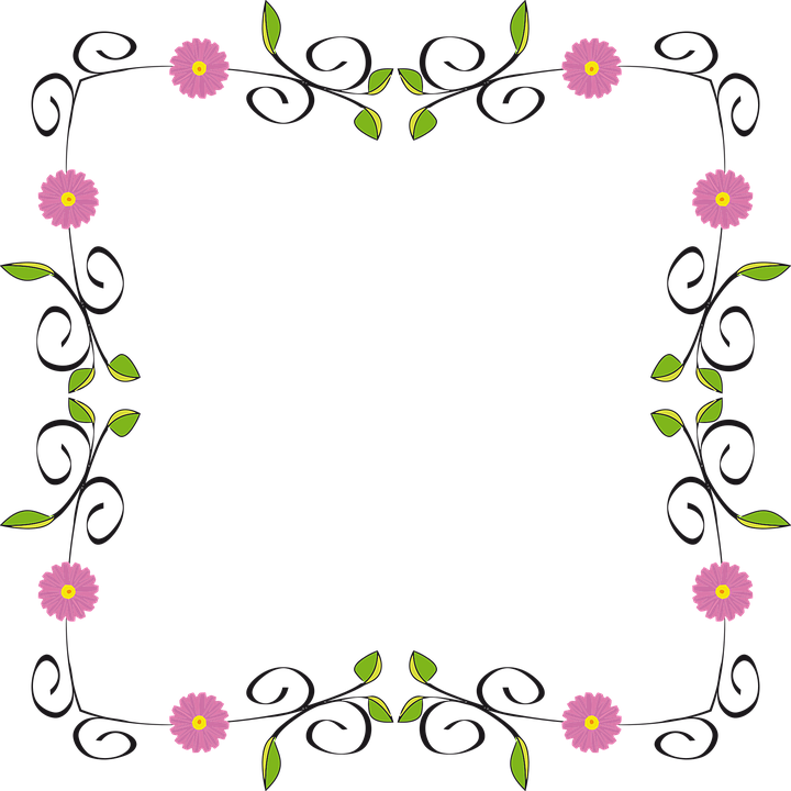 Free Image on Pixabay Floral, Flower, Flourish, Border