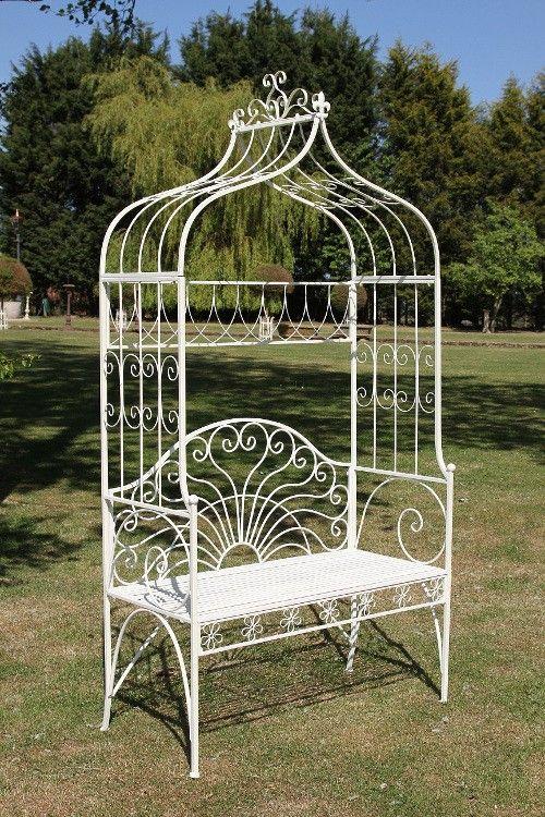 """Christiana"" Arbour Garden bench - Rose Arches, Pergolas & Arbours - Architectural Garden Pavillion & Structures - Garden & Outdoor Living - Catalogue | Black Country Metal Works"