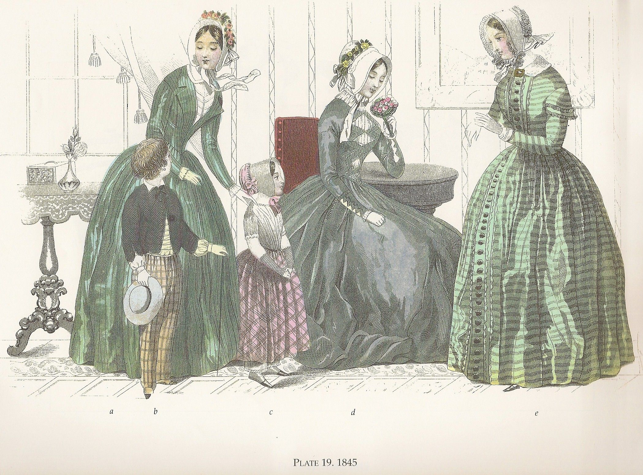 Fashion Timeline 1840 S Historical Costume Ladies Day Dresses 1840s Day Dress [ 1552 x 2098 Pixel ]