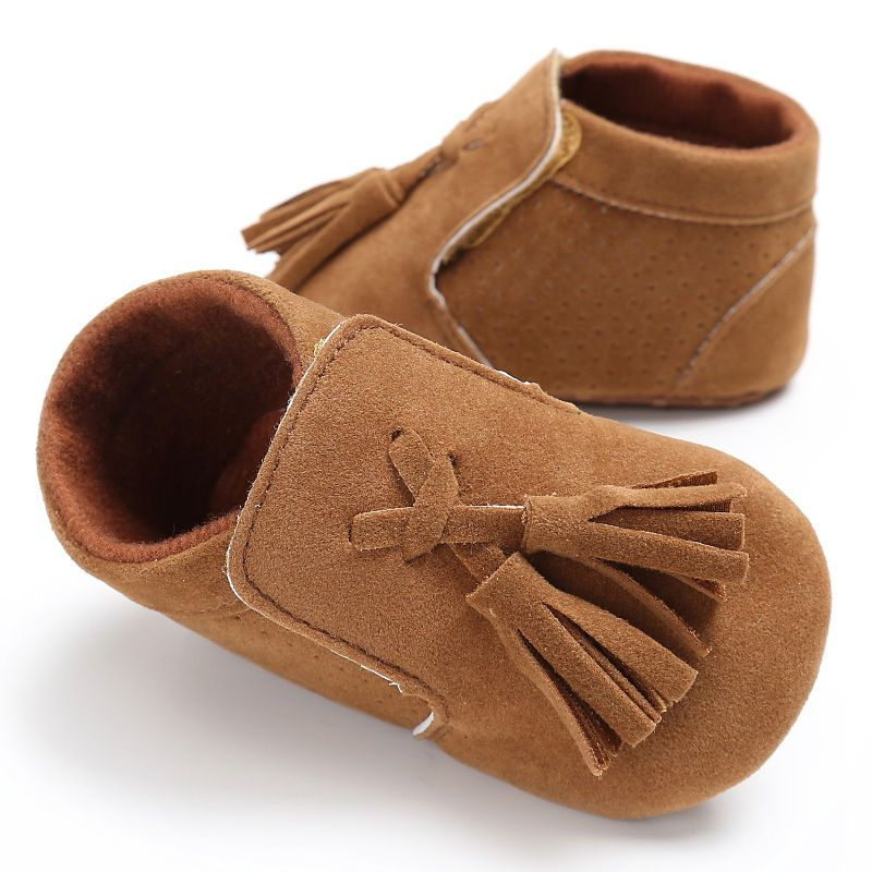 New Style Pu Suede Solid Leather Newborn Infant Toddler Princess Fringe Baby Moccasins Soft Sole Baby Boys Girls Leather Baby Shoes Baby Shoes Baby Crib Shoes