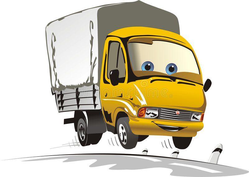 Cartoon Delivery Cargo Truck Vector Illustration Of Cartoon