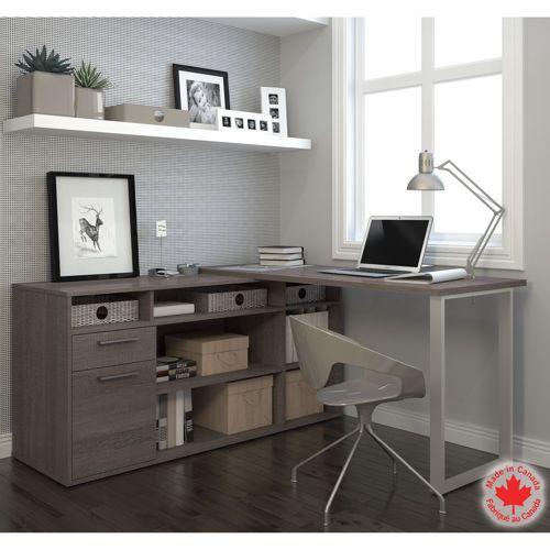 Bestar Solay L Shape Desk With Images Modern L Shaped Desk Home Office Decor Home Office Desks