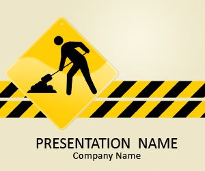 Under Construction Powerpoint Template Templates Road