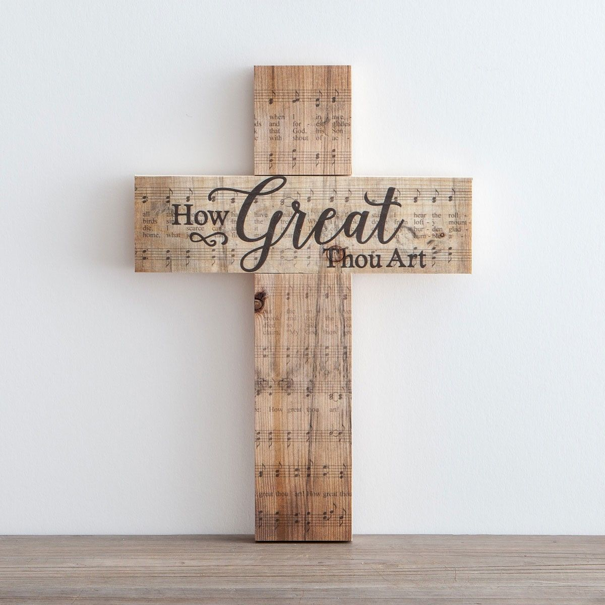 Easter Hymn Gifts Decor At Dayspring How Great Thou Art Wooden Cross
