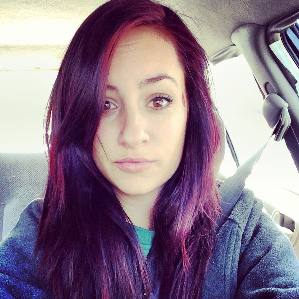 Dyed My Hairs Used The Splat Products From Walmart Raspberry And Lavender Also Used A Normal Box Dye In Dar Dark Blue Hair Dyed Hair Blue Dark Blue Hair Dye
