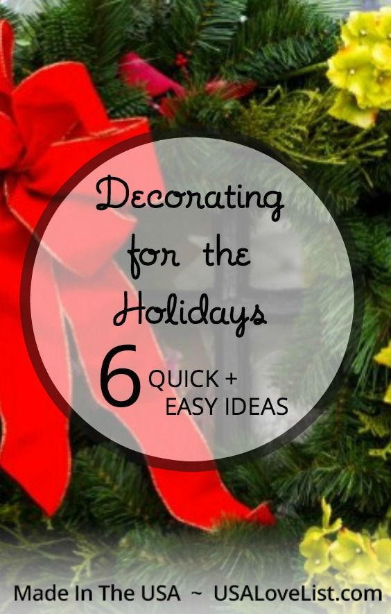 Easy holiday decorating ideas | Quick holiday decorating tips & 6 Quick u0026 Easy Holiday Decorating Ideas | Holidays and Easy