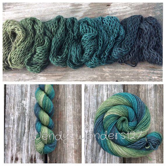 Gradient Yarn, SW Merino/Silk/Yak Yarn, DK weight yarn