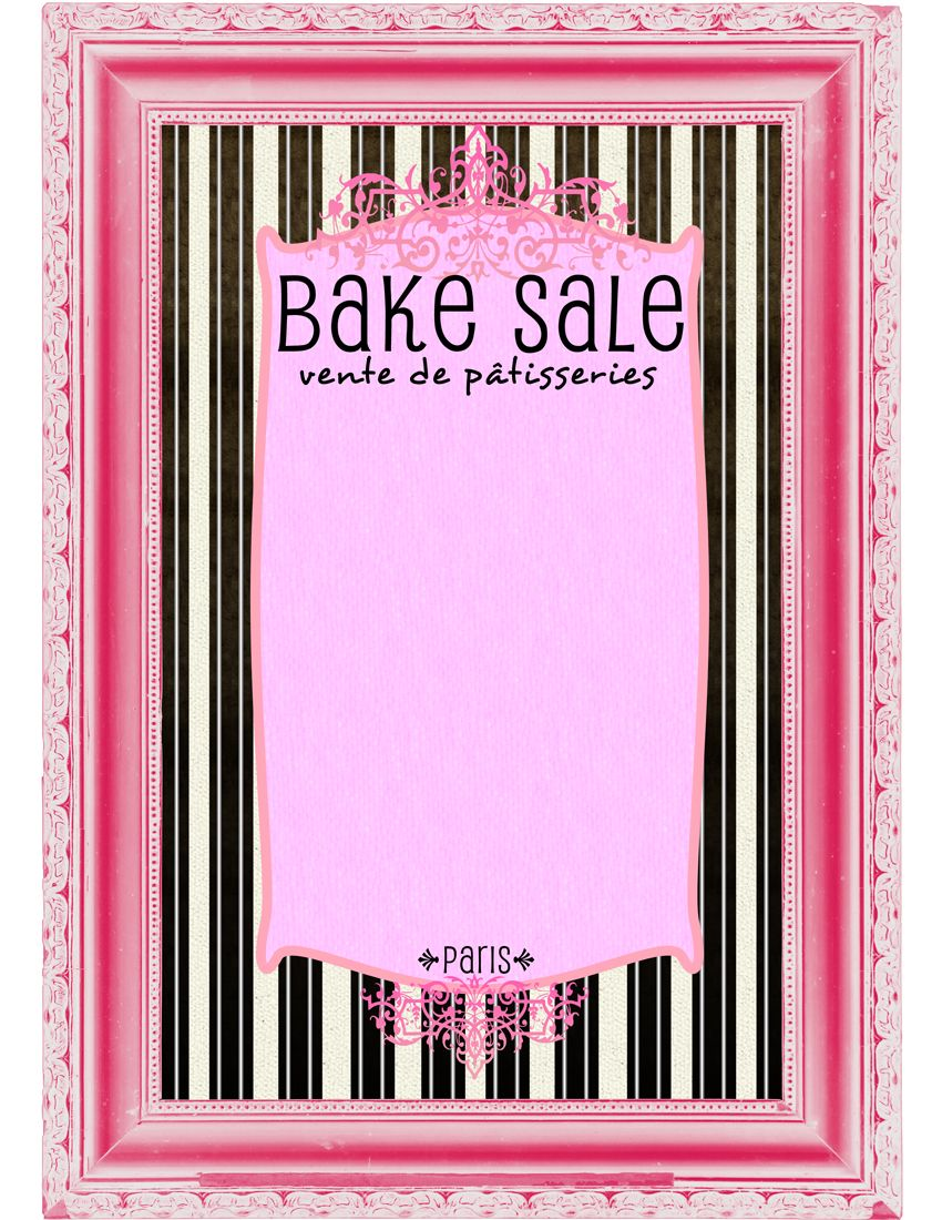 printable breast cancer posters vente de pâtisseries french style flyer vente de pâtisseries bake flyers flyer designs
