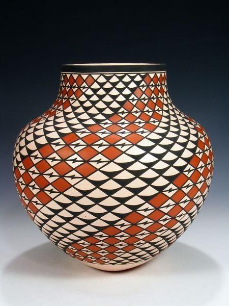 Acoma Pueblo Pottery By Georgia Patricio Pueblodirect Com 1 Native Pottery Pueblo Pottery Native American Pottery