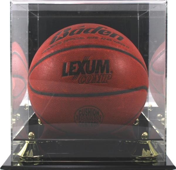 Elegant Display Case With Mirror Back Clear Attractive Display For Either Basketball Soccer Ball Or Volleyball Mounted O Basketball Display Case Soccer Ball