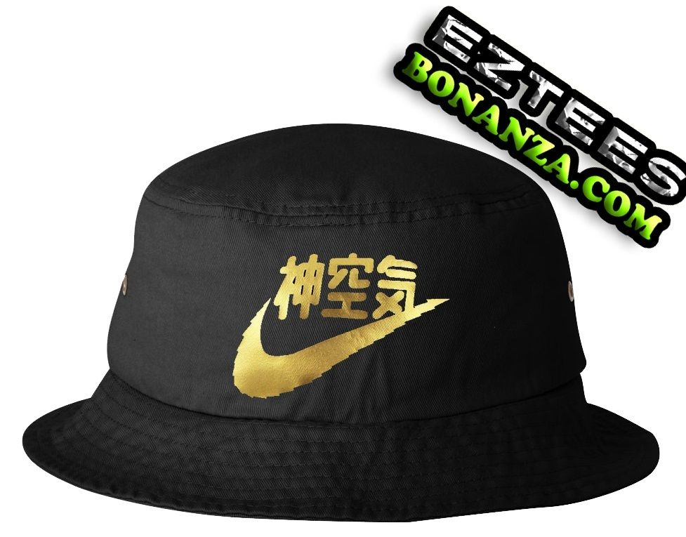 Vintage Very Rare Air Nike Japan Vtg Bucket Hat One Size Fits Most Gold Chapeu Verao