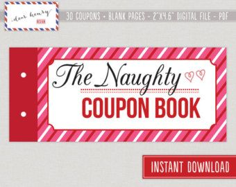 Naughty sex vouchers or coupons