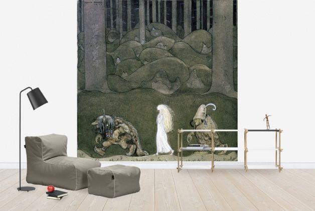 Princess and trolls (Prinsessan och trollen, John Bauer), Photowall, #wallpaper