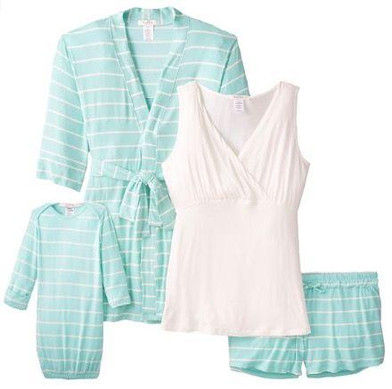 Women's Maternity Nursing 5-Piece Shorts Pajama Set | New Mommy ...