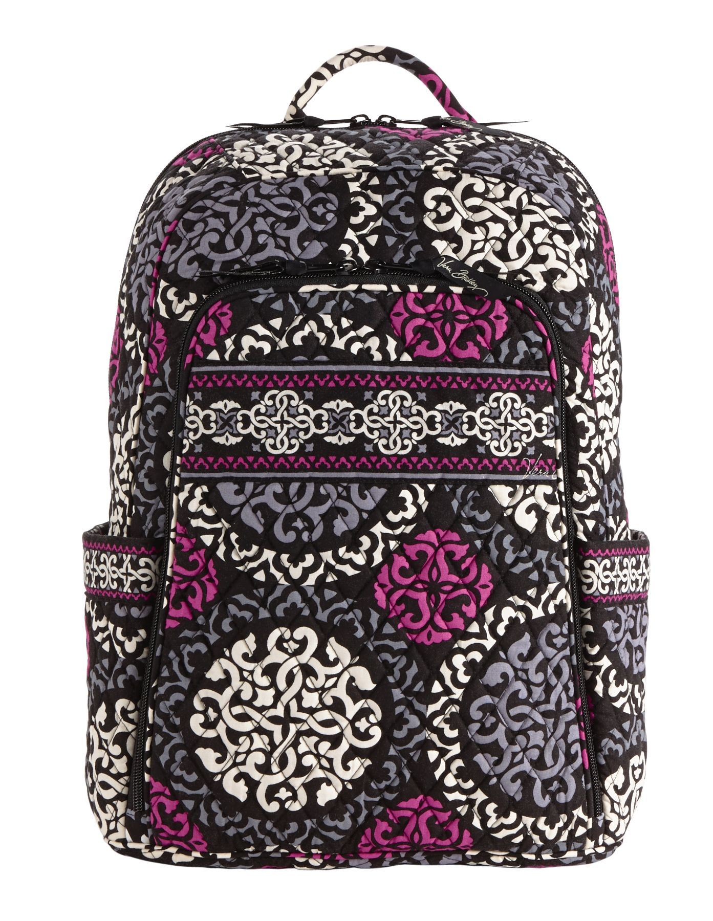 Vera Bradley Laptop Backpack in Canterberry Magenta Vera Bradley Online  Clearance  DEALS 70% Off ae654f484c2ac