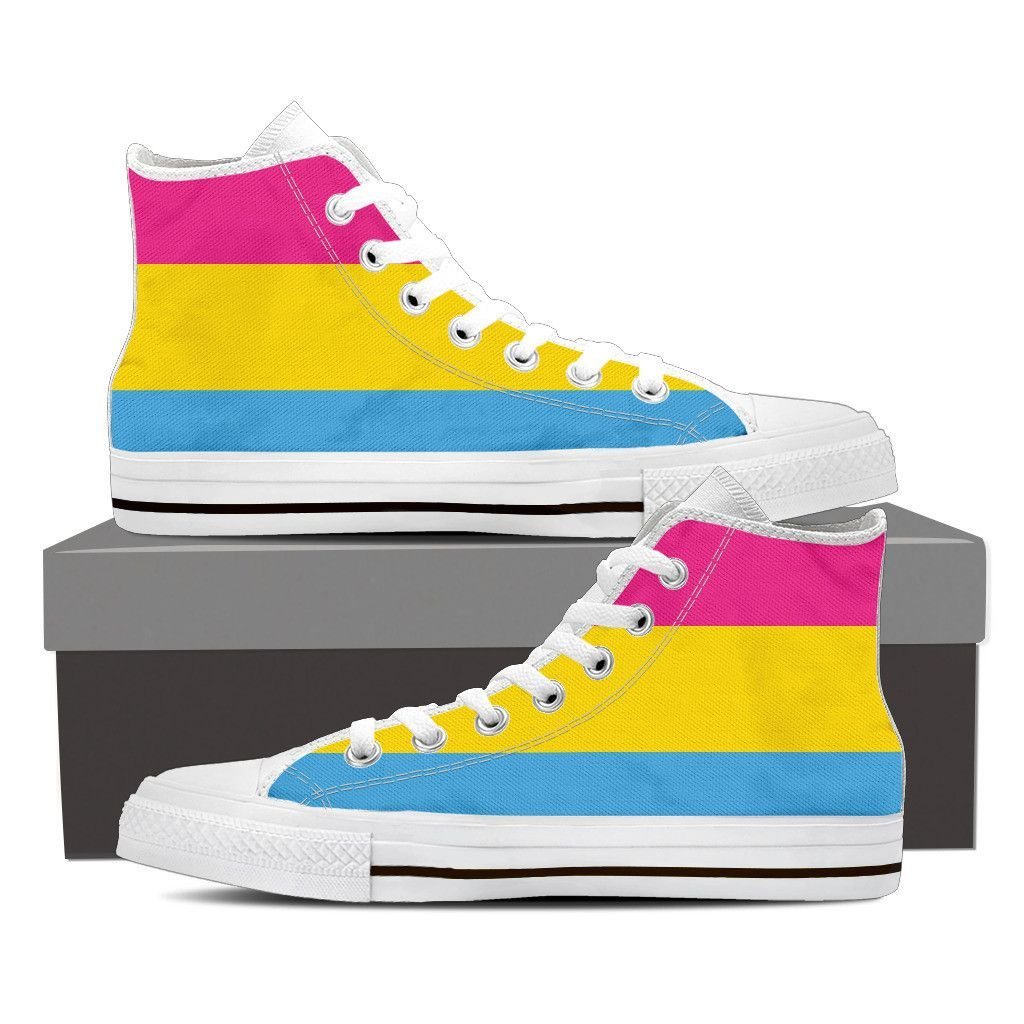4f739354c Show your Pansexual pride with these canvas shoes. - Full canvas double  sided print with rounded toe construction. - Lace-up closure for a snug fit.