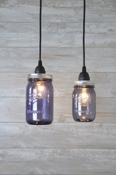Genial IMPROVED 100TH ANNIVERSARY Mason Jar Pendant Light