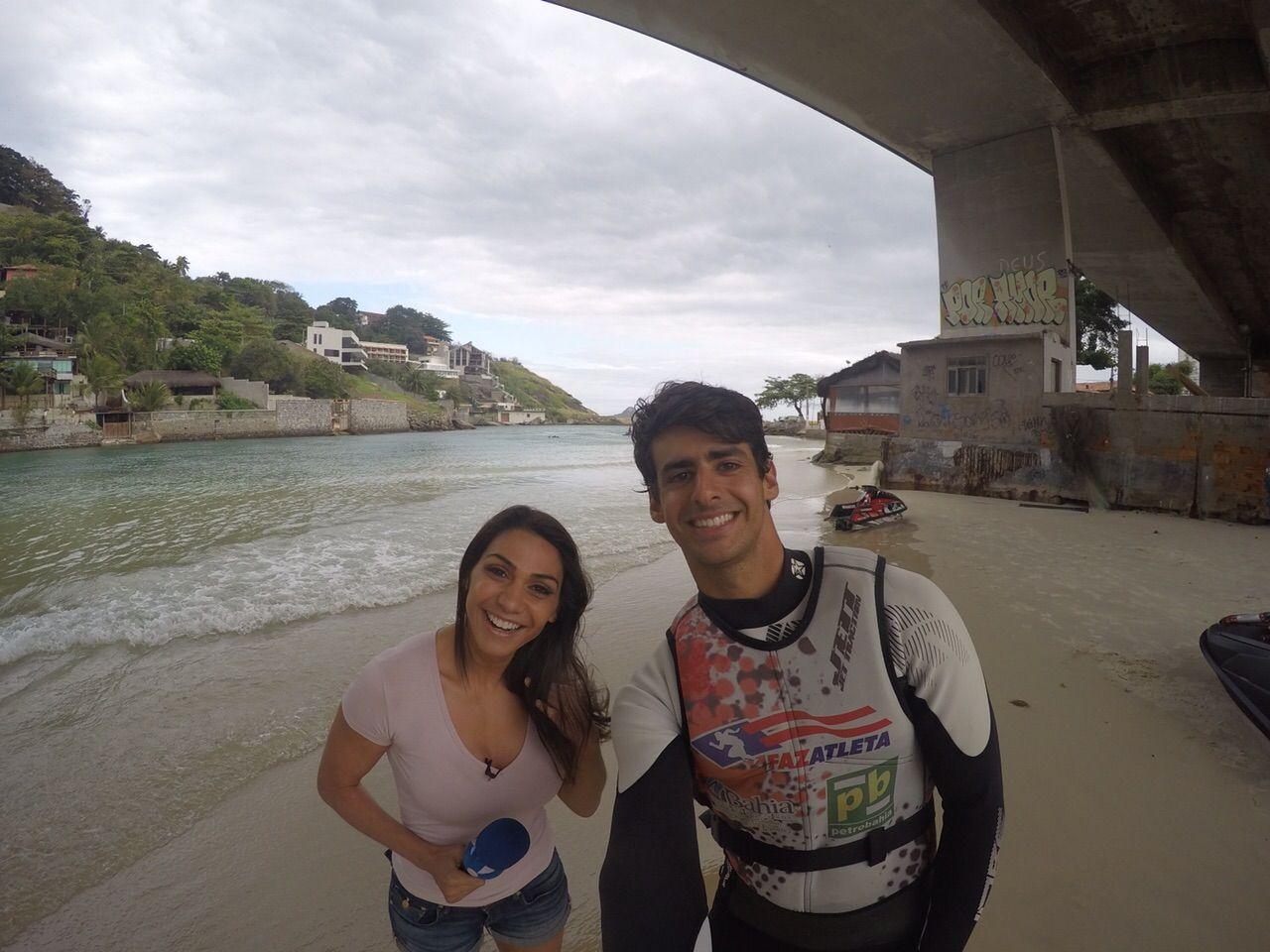 Piloto de #jetski Freeride Bruno Jacob em entrevista à Rede TV.  #assessoriadeimprensa #marketingesportivo www.benditaimagem.com.br