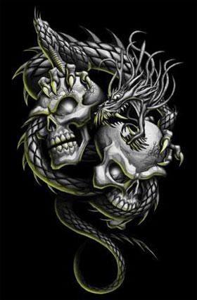Cr nes et dragon skulls and bones art pinterest dragons - Tete de mort signification ...