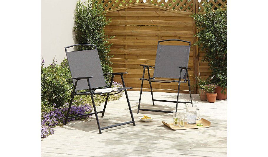 Miami 2 Pack Folding Chairs Home & Garden at