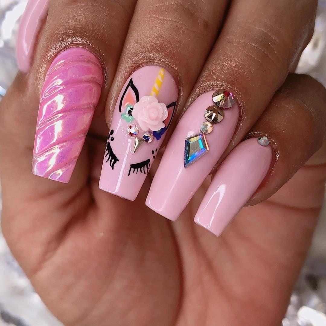 #3dnailart #pinknails #stilletonails | Pink nails, Nail