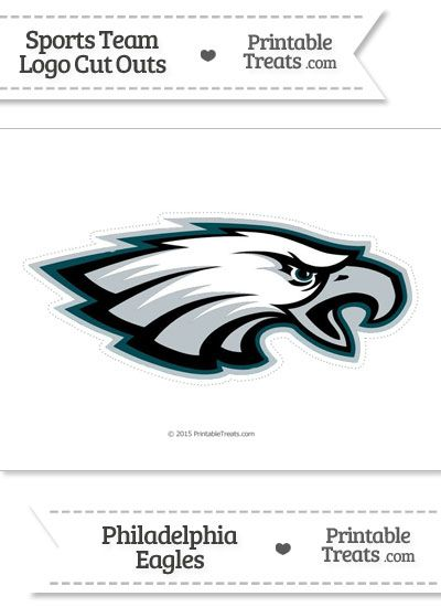 image relating to Philadelphia Eagles Printable Schedule identified as Substantial Philadelphia Eagles Symbol Slash Out towards PrintableTreats