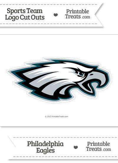 image regarding Philadelphia Eagles Printable Schedule identified as Superior Philadelphia Eagles Emblem Slice Out against PrintableTreats