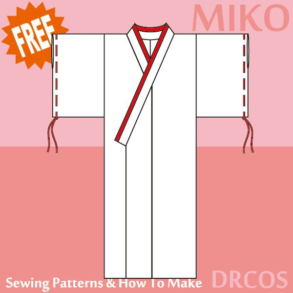 Kimono Costume - Free Japanese Cosplay Sewing Pattern! You can learn ...