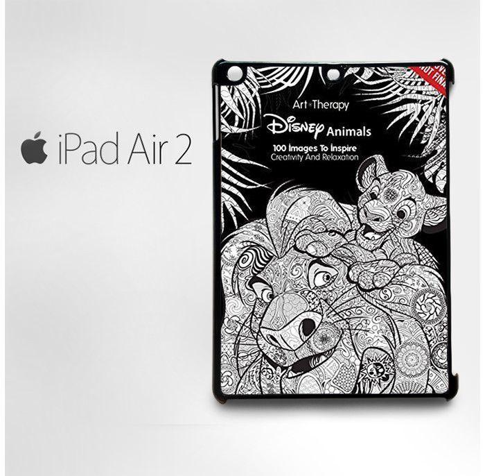 Disney Coloring Books For Adults Custom Case IPad 2 3 4 Mini Air1 Air