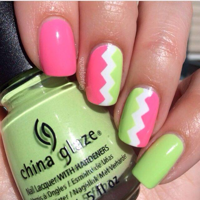 Neon nails   Nails   Pinterest   Diseños para uñas y De todo