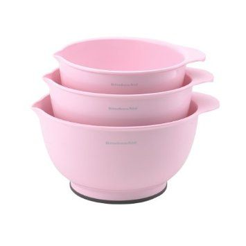 Kitchenaid Classic Mixing Bowls Pink Set Of 3 Kitchenaid Classic Pink Kitchen
