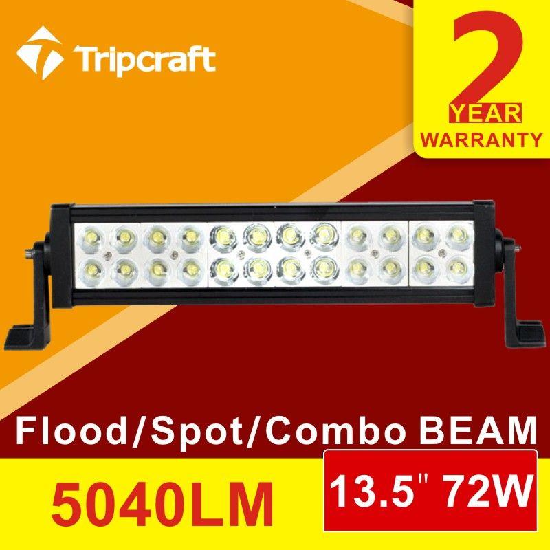 13inch 72w Led Extraljus Ramp Led Light Bar Offroad Light 12v 24v Led Work Light For Atv Suv Led Driving Lights Led Light Bars Bar Lighting