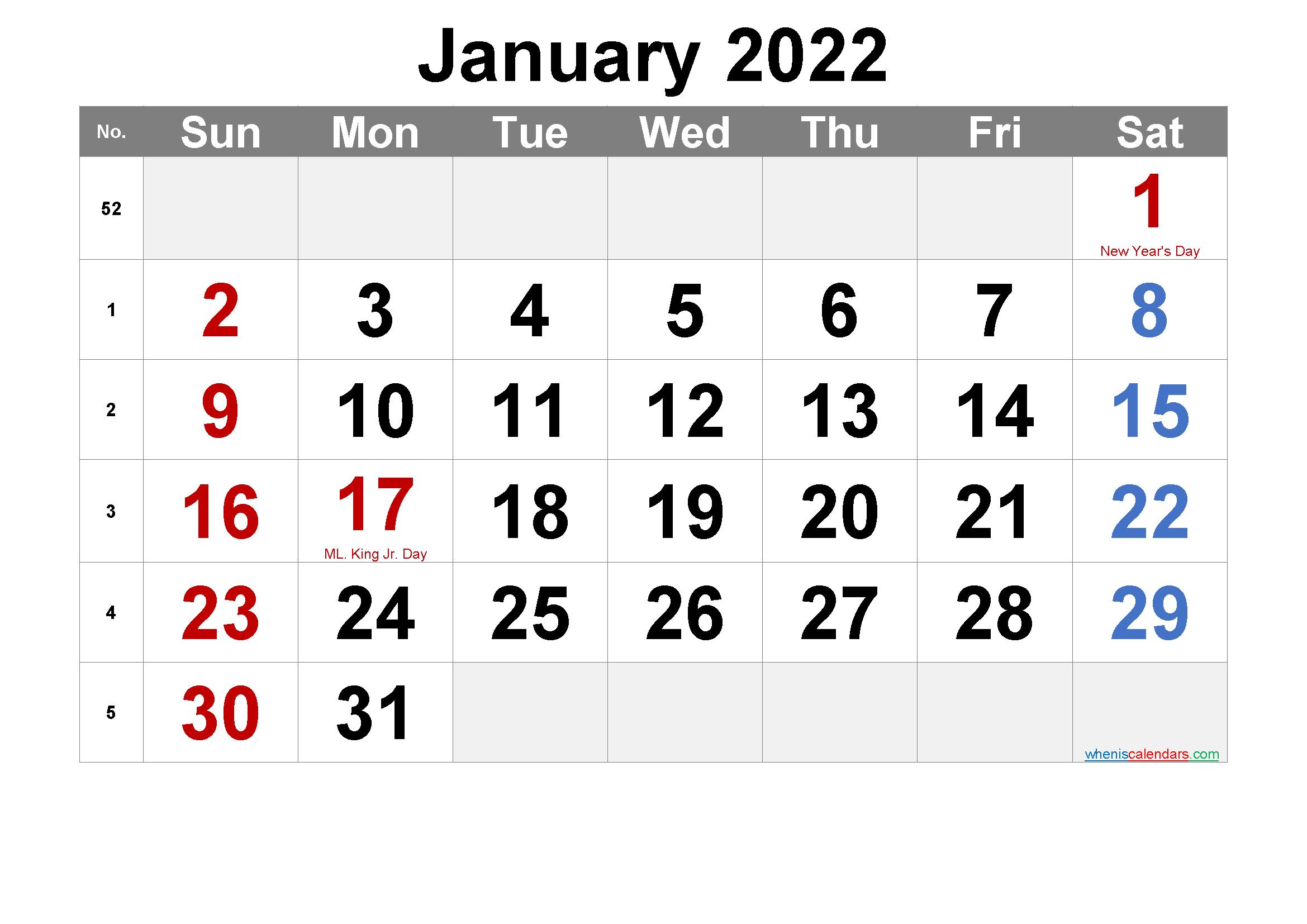 July 4 2022 Calendar.Free Printable January 2022 Calendar Pdf And Png Calendar Printables Printable Calendar July Monthly Calendar Printable