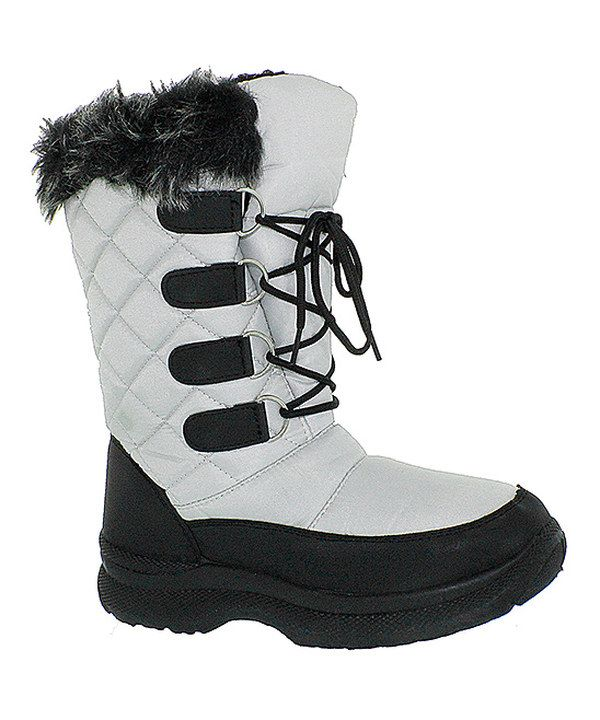 Look at this Transco Silver Quilted Boot on #zulily today!