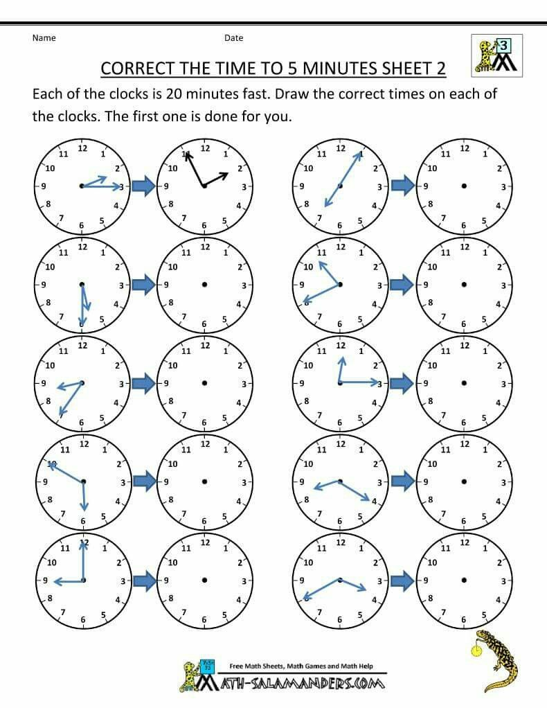 Math Worksheets For Grade 3 Telling Time Page 4