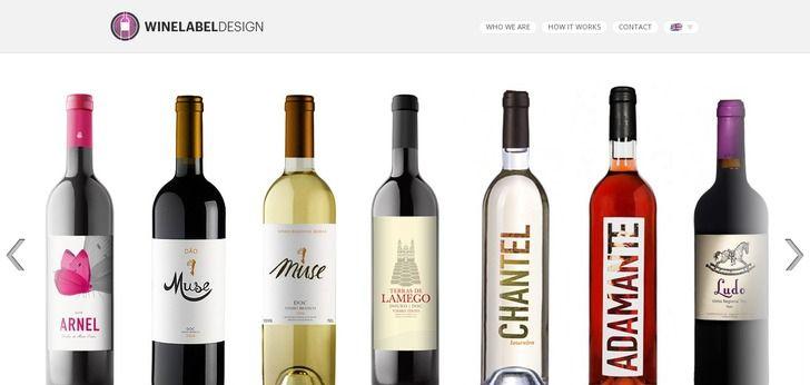 Wine Label Design website has a Great Web Design | Best Web ...