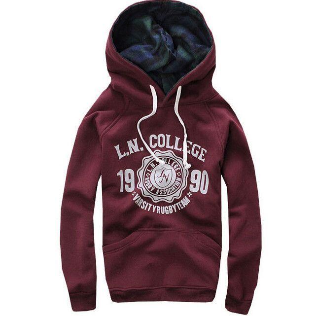 Fashion Cotton Printed Long Sleeves Autume Men Sport Casual Hoodies Men Sportwear Men Sweatshirt